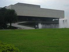 The Cultural Center of the Philippines main building designed by National Artist for Architecture Leandro Locsin Filipino Architecture, Filipino House, Cultural Center, Brutalist, Manila, Artist Art, Building Design, Valencia, Philippines