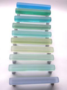 10 beach glass pulls by bgisland on Etsy https://www.etsy.com/listing/150176233/10-beach-glass-pulls
