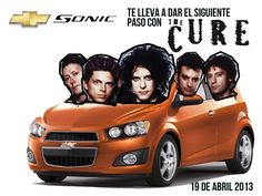 @Chevrolet Colombia y su nuevo Chevrolet Sonic te invitan al concierto más esperado en nuestro país: The Cure en Bogotá, abril 19 / Parque Simón Bolívar. Afiche por: @CaroTafur #TheCureDeGiraxChevrolet @Chevrolet Colombia #TheCure #Colombia #Bogota #Chevrolet #Sonic