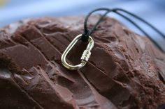 Climbing Locking Carabiner small Sterling Silver by cococlimb, $40.00