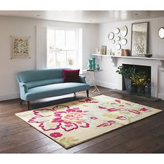Buy Sanderson Angelique Purple Rug Online at johnlewis.com