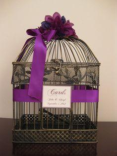 Vintage Style Birdcage Wedding Card Box by SouthburyTreasures, $60.00