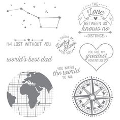Going Global Wood-Mount Stamp Set by Stampin' Up!