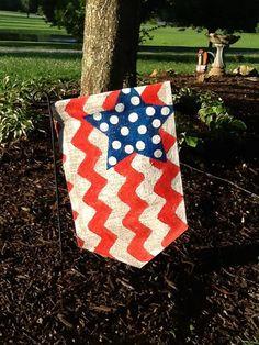 4th of July Burlap Garden Flag - Outdoor Decor