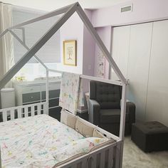 New US Queen Size House bed frame floor bed, toddler bed baby bed montessori bed kids bedroom birch bed home developing toy - Bed frame - Twin Size Toddler Bed, Toddler Bed Frame, Diy Toddler Bed, Kids Bed Frames, House Frame Bed, House Beds, Toy House, House Floor, Wood Nursery