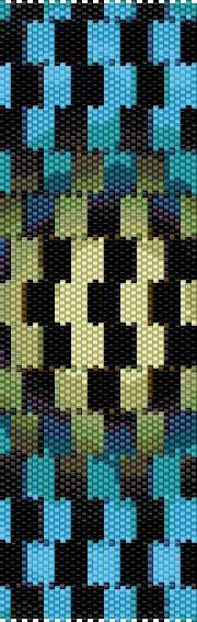 BPIL0002 Illusion 2 Even Count Single Drop Peyote Cuff/Bracelet Pattern