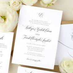 Classic Calligraphy Wedding Invitations, Details Card, RSVP Card, Envelope Liner, Editable Templates, AB21_01_000 by AliceBluefox on Etsy Wedding Invitation Kits, Wedding Calligraphy, Envelope Liners, Childrens Party, Wedding Programs, Rsvp, Place Card Holders, Romantic