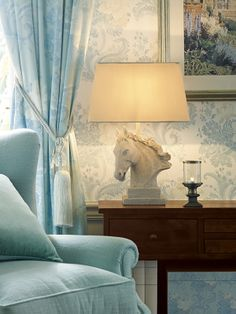 Like the colours -not so sure about the horse head....From Laura Ashley's Operetta collection