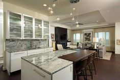 Building A Functional Modern Kitchen Island - Design Solutions, inc Modern Kitchen Images, Kitchen Island Lighting Modern, Black Kitchen Island, Stools For Kitchen Island, Contemporary Kitchen Design, Modern Kitchens, Küchen Design, House Design, Ikea Small Spaces