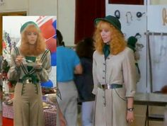 Fashion from the movie Troop Beverly Hills Chartreuse Dress, Troop Beverly Hills, Orange Heels, Super Hero Costumes, Great Films, Chiffon Skirt, Skirt Suit, Film Fashion, Glamour