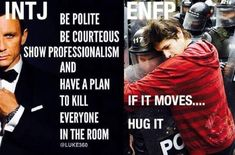 Enfp hug the intj because it moves eventually .after very carefully coaxing it to! Enfp Personality, Myers Briggs Personality Types, Myers Briggs Personalities, Intj And Infj, Introvert, Intj Women, Memes, Thing 1, Jokes