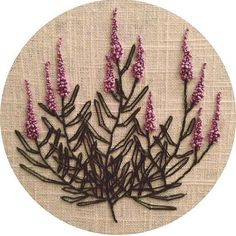wildflower embroidery wall hanging