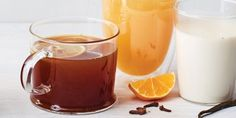 This festive, spiced toddy starts with a black tea base. English breakfast tea is especially good with the black pepper and star anise, but Earl Grey would be nice, too.
