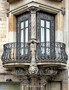 - Gran Via 542 g Ornate wrought-iron balconies, Casa Francesc Farreras, Sant Antoni, Barcelona, Spain. Photo by Arnim Schulz.