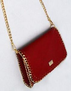 Chain edged flap style shoulder bag. Pebble grain finish. – Today Finds