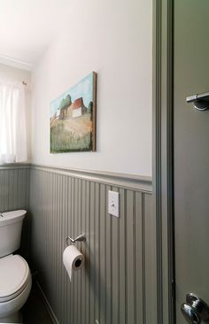 Photo Album For Website white wall gray beadboard Google Search Painted WainscotingBathroom