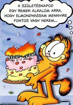 Garfield Birthday, Happy Birthday, Birthday Parties, A Comics, Geek Stuff, Snoopy, Humor, Illustration, Party