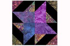 Jewel Tone Pinwheel Quilt Block Pattern