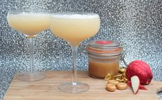 If like me you have some vodka lieing around the house, you cn easily flavour it and make these toffee apple cocktails