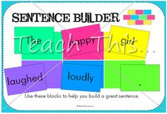 Sentence Builder - Fun School Literacy and Reading Games, dominoes, bingo, matching, board games and more :: Teacher Resources and Classroom Games :: Teach This