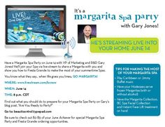 Mark your calendars...join me LIVE for an evening of margaritas, fun and relaxation!  www.livestream.com/bcnow