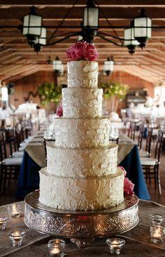 Simple Rustic Wedding Ideas   Tiered Rustic Wedding Cake 275x430 Virginia Wedding Reception: Evie ...