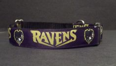 Baltimore Ravens NFL on Black Webbing Ribbon by SpoiledSillyPets, $14.00