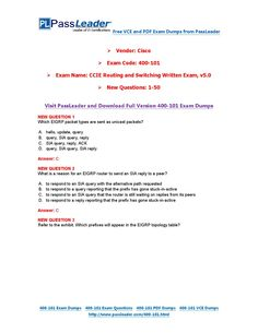 New 400-101 Exam Dumps with PDF and VCE Download (1-50)