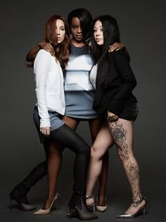 From left to right: Siobhan, Keisha & Mutya pose for their new single Flatline. Famous Musicals, Famous Girls, Girl Bands, Lineup, Girl Group, Winter Jackets, Poses, Concert, Collection