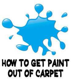 If you need to remove paint from carpet (wet or dry, a little or a lot, latex or enamel, water based or oil based), here are several methods that may work.