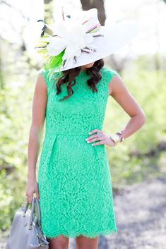 Feminine Lace Kentucky Derby Outfit- A Southern Drawl