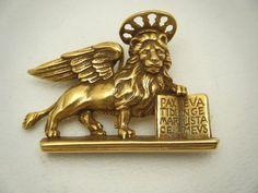 Vintage 1984 MMA Pin Brooch & Pendant St Mark's LION Venice San Marco Met Museum #MMAMetropolitanMuseumofArt