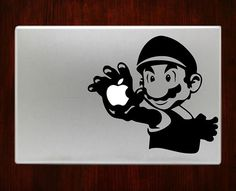 Super mario bros Luigi  Nintendo Mac Decal Stickers For Macbook 13 Pro Air Decal #RusticDecal