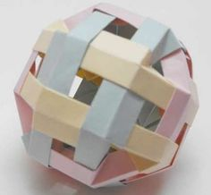 Kusudama - Origami Cutaway Cube