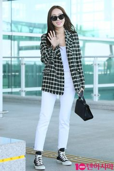 Snsd Fashion, Fashion Outfits, Womens Fashion, Kpop Outfits, Jean Outfits, Airport Style, Airport Fashion, Jessica Jung Fashion, Jessica & Krystal