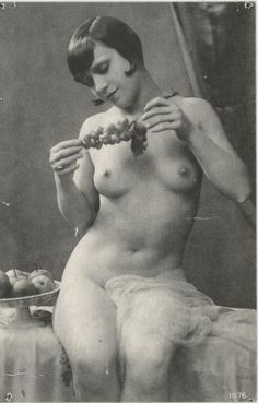 Old French Female Nude Erotic Reproduced Photogravure