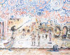 """""""From the mural """" 2014 Watercolor, pastel, chacroal & Ink on paper Canson 140 lbs 13.7 x 10.6 inches. Carlos Pardo.    """"Desde el mural"""" 2014. Acuarela, pastel,carboncillo y tinta S/ papel Canson 300grs 35 x 27 cms. Carlos Pardo.  Precio: 130€   Item 0522 www.ArtCarlosPardo.com"""