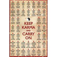 Keep Karma and Carry On Keep Calm Spoor Art Print Poster - 24x36 College Poster Print, 24x36:Amazon:Home & Kitchen