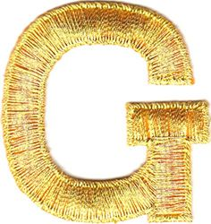 "[Single Count] Custom and Unique (1 3/4"" Inches) American Alphabet Monogram Letters Metallic Script Fancy Capital Letter G Iron On Embroidered Applique Patch {Gold Color} mySimple Products http://www.amazon.com/dp/B016L6VUIM/ref=cm_sw_r_pi_dp_AmvOwb0G44KVV"