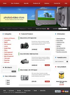 Photo Video ZenCart Templates by Delta