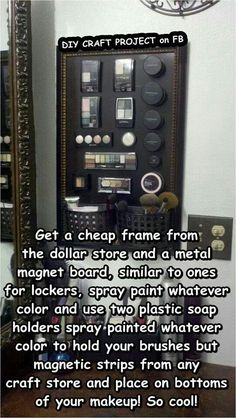 Magnetic makeup holder