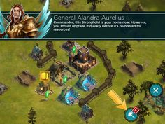 Rival Kingdoms - Tutorial Cutscene - UI HUD User Interface Game Art GUI iOS Apps Games