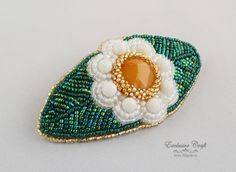 Bead embroidery barrette by Exclusive Craft www.exclusivecraftforyou.com