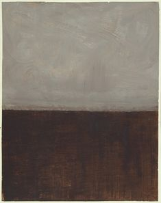 Untitled (Brown and Grey) by Mark Rothko, 1969.