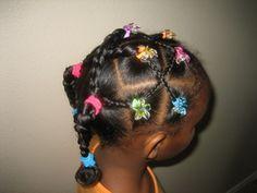 Fashionable Cornrow Hair Style For Little Girls