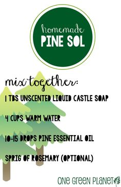 How to Make Easy Homemade, Natural 'Pine Sol' for Sparkling Floors and Wood Furniture