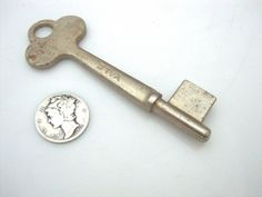 "Yale and Towne Mfg. Co. Yale Blank  Skeleton Key 3"" Made in USA"
