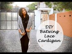 DIY Batwing Lace cardigan tutorial: Sewing patterns - YouTube