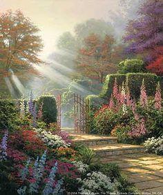 """""""Garden of Grace"""" - thomas kincade RIP"""