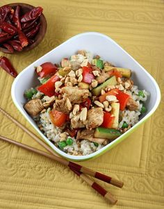 Easy Kung Pao Chicken - RecipeGirl.com